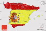 North East Spain Map Flag Map Of Spain
