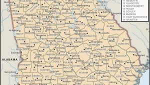 North Georgia County Map State and County Maps Of Georgia