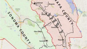 Northern California Wine Country Map Wine Country Map sonoma and Napa Valley