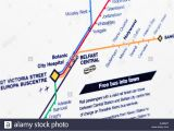 Northern Ireland Rail Map Train Map Stock Photos Train Map Stock Images Alamy