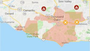 Oak Hills California Map Map Of Woolsey and Hill Fires Updated Perimeters Evacuation Zones