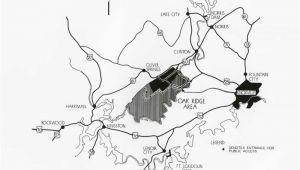 Oak Ridge Tennessee Map Map Of Oak Ridge and Surrounding area 8 27 1945 2010 012 0217 Med