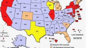 Ohio Ccw Reciprocity Map Great Ohio Ccw Reciprocity Map Usa Worldmaps