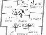 Ohio County Numbers Map File Map Of Jackson County Ohio with Municipal and township Labels