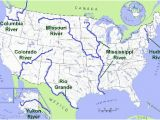 Ohio Map with Rivers United States Geography Rivers