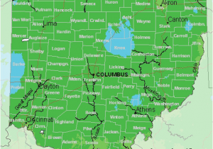 Ohio Planting Zone Map Map Of Usda Hardiness Zones for Ohio
