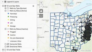 Ohio Road Construction Map Oil Gas Well Locator
