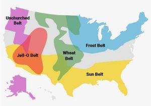 Ohio Snow Belt Map Regions Of America Include Bible Belt and Rust Belt Business Insider