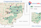 Ohio State Representatives District Map Ohio S 18th Congressional District Wikipedia