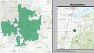 Ohio State Representatives District Map Ohio S 3rd Congressional District Wikipedia
