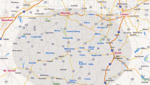 Ohio tourism Map Ohio Amish Country area Map Information