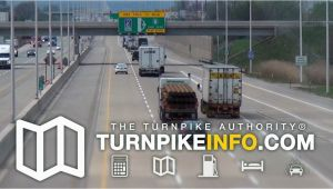 Ohio Turnpike Exit Map Delaware toll Road Maps Exits and Plazas