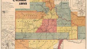 Old Colorado Maps Map Of Colorado southwestern Colorado Map Fine Print Vintage