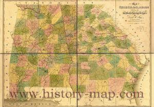 Old Maps Of Georgia Old Map Of Georgia and Alabama Civil War Ga Pinterest Georgia