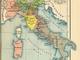 Old Maps Of Italy Italy From 1815 to the Present Day 1905 by Friedrich Wilhelm