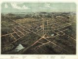 Old Maps Of Michigan 1866 Hillsdale Panoramic Michigan Map Genealogy atlas Poster Old