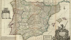 Old Maps Of Spain File Spain and Portugal Herman Moll 1711 Jpg Wikimedia Commons