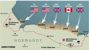 Omaha Beach France Map D Day normandy Landings Map Wwii Europe 1944 D Day normandy