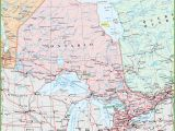 Ontario Canada Map Detailed Map Of Ontario with Cities and towns