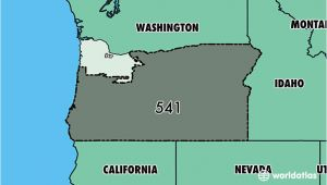 Oregon area Codes Map where is area Code 541 Map Of area Code 541 Eugene or area Code