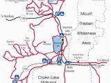 Oregon Camping Map Diamond Lake Map Snowmobiles Diamond Lake oregon Vacation
