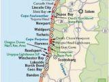 Oregon Coast attractions Map Map or oregon Coast Secretmuseum
