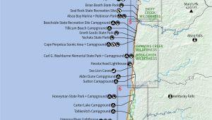 Oregon Coast State Parks Map Camping oregon Coast Map Secretmuseum