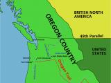 Oregon Country Map 1846 oregon Vertrag