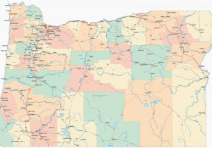 Oregon County Map with Major Cities Portland oregon County Map Secretmuseum