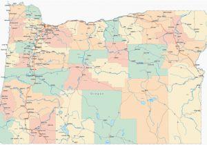 Oregon County Map with Major Cities Portland oregon County Map Secretmuseum