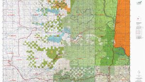Oregon Hunting Unit Map or 16 Santiam S Map Mytopo
