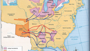 Oregon Indian Reservations Map Trail Of Tears Map History Post Industrial Revolution Up to Wwi