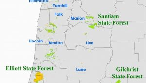 Oregon National forests Map orww Elliott State forest Maps