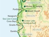 Oregon Rainforest Map Map oregon Pacific Coast oregon and the Pacific Coast From Seattle