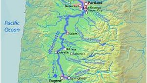 Oregon River Maps and Fishing Guide A Map Of the Willamette River Its Drainage Basin Major Tributaries