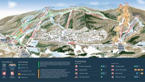 Oregon Ski areas Map Mountain Creek Resort Trail Map Onthesnow