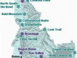 Oregon Ski Resorts Map Idaho Map Of Downhill Ski areas Go northwest A Travel Guide
