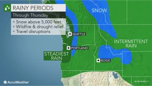 Oregon Snowfall Map Series Of Storms to Deliver Much Needed Rain to northwest Cascades