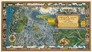 Oregon Trail Game Map Amazon Com Historic Map oregon Trail Highway Of the Pioneers to