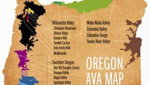Oregon Wine Ava Map Learn Your Avas