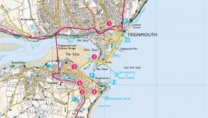Os Map Of England Explore Shaldon From Teignmouth Print Walk south West Coast Path