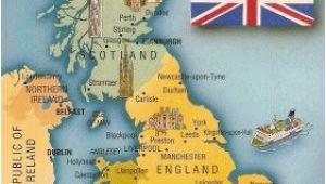 Oxford Map Of England Postcard A La Carte 2 United Kingdom Map Postcards Uk