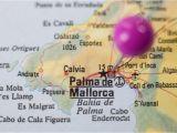 Palma De Mallorca Spain Map Pushpin Marking On Palma De Majorca Spain Stock Photo