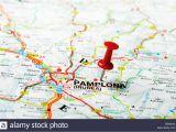 Pamplona Map Spain Pamplona Irunea Stock Photos Pamplona Irunea Stock Images Alamy