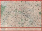 Paris and Italy Map Map Paris American Red Cross Circa 1944
