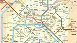 Paris France Subway Map Karte Plan Der Pariser Metro format Xl Metroplan Metrokarte