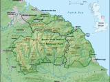Physical Map Of England north York Moors Wikipedia