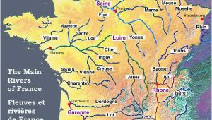 Physical Map Of France Rivers Map Of the Rivers In France About France Com