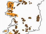 Physical Map Of Ireland Mountains Blanket Bogs Of Ireland Factsheetirish Peatland Conservation Council
