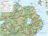 Physical Map Of northern Ireland Republic Of Ireland United Kingdom Border Wikipedia